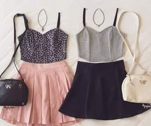 outfit, skirt, and bag image