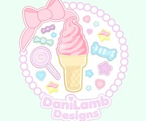 cartoon, ice cream, and illustration image