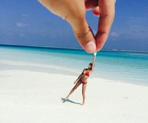 beach, funny, and paradise image
