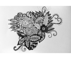 blackandwhite, draw, and déssin image
