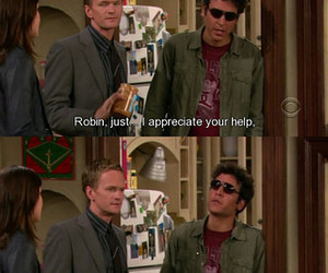 how i met your mother, robin, and funny image