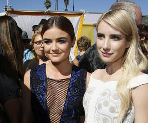 emma roberts, lucy hale, and pll image