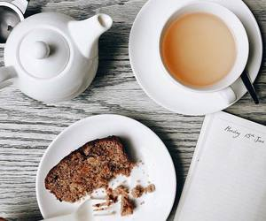 breakfast, cake, and tea image