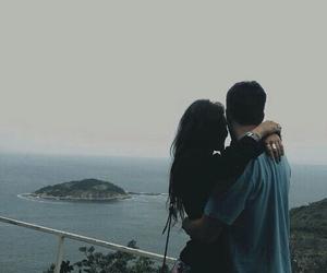 couple, hug, and nature image