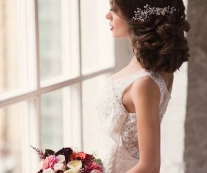 hair, hairstyle, and rose image