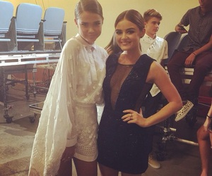 lucy hale, maia mitchell, and pretty little liars image