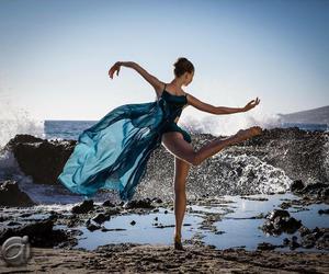 ballerina, ballet, and beach image