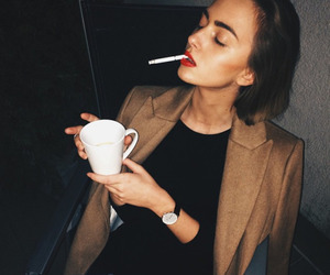 fashion, girl, and cigarette image