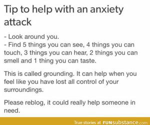 anxiety and tumblr post image