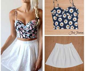 conjunto, outfits, and vestido image