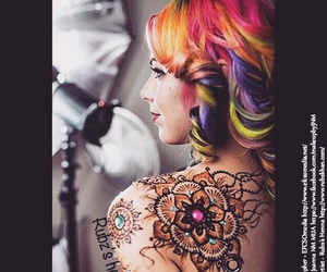 blog, colourful, and henna art image