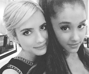 ariana grande, emma roberts, and scream queens image