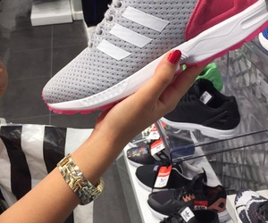 adidas, rose, and footlocker image