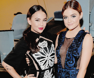 janel parrish, lucy hale, and pretty little liars image