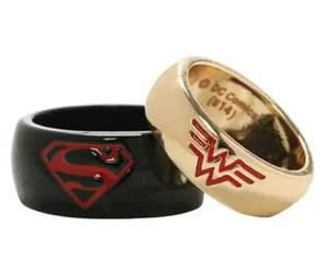 superman, wonder woman, and couple image