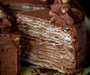 buttercream, custard, and cake image