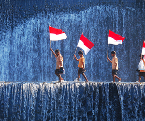 indonesia, flag, and indonesian image