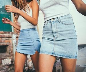 fashion, girl, and skirt image