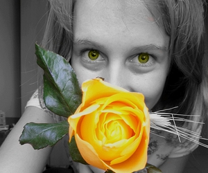 cool, eyes, and flower image
