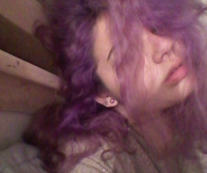 aesthetic, color hair, and sad image