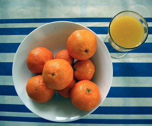 blue, oranges, and glass image