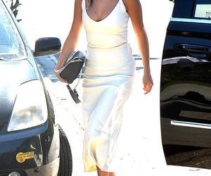 selena gomez, dress, and white image