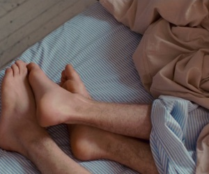 feet, gay, and bed image