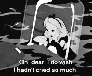 alice in wonderland, cry, and quotes image