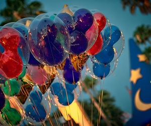 disney, balloons, and mickey image