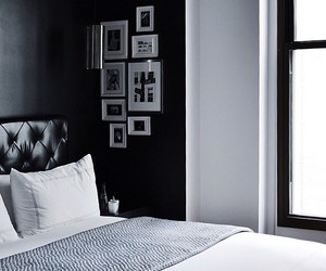 beauty, bedroom, and black image