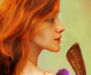 ginny, red hair, and gryffindor image