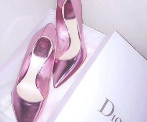 dior, shoes, and pink image