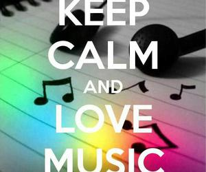 music, keep calm, and love music image