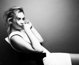 lily james and black and white image