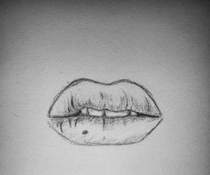 draw, lips, and my drawing image