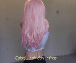 hair, dark, and grunge image