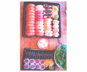 food, sushi, and ginger image