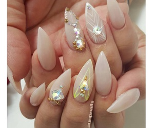 luxury, nails, and cute image