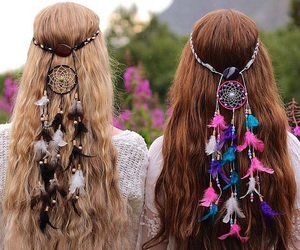 hair, hippie, and plume image