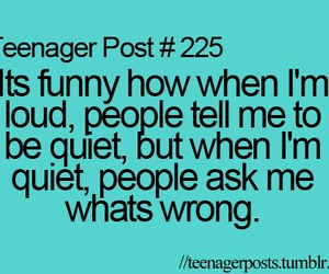 loud, quiet, and teenager post image
