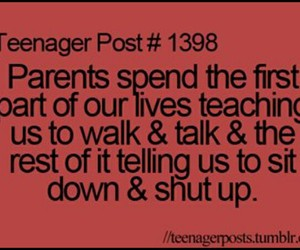 funny, parents, and quote image