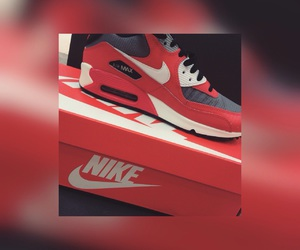 nike, red, and shopping image