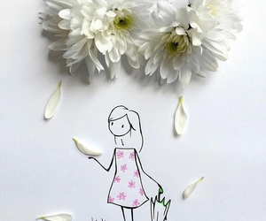 flowers, art, and virgola image