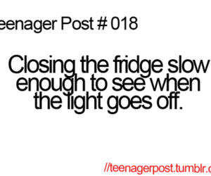 teenager post, funny, and fridge image