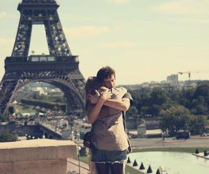 love, paris, and couple image