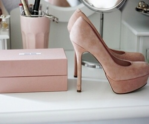 heel, shoes, and pink image