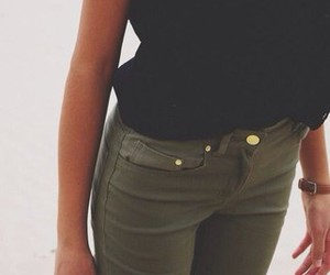casual, fashion, and green image