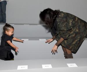 kim kardashian, north west, and kim image