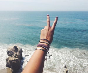 beach, bracelets, and fun image