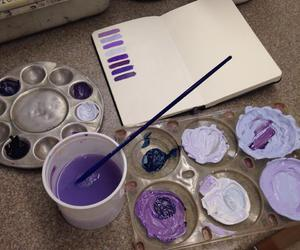 purple, art, and paint image